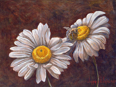 Bees Painting - Suns Harvest by Jeff Brimley