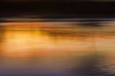 Sunset Abstraction Harpeth River Print by Photo Captures by Jeffery