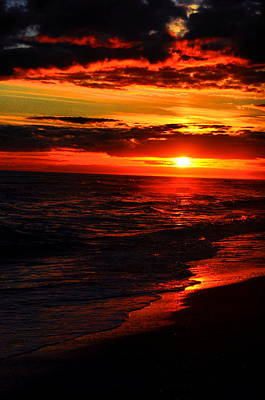 Beach Photograph - Sunset Appeal  by Emily Stauring