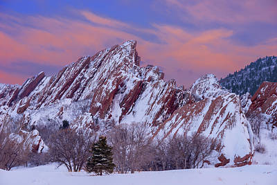 Winter Scenes Photograph - Sunset At Arrowhead by Darren White