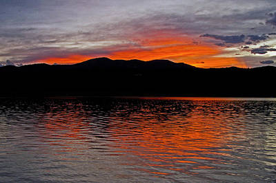 Carter Photograph - Sunset At Carter Lake Co by James Steele