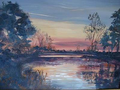 Rawlings Painting - Sunset At Crosscreek by Marilyn Masters