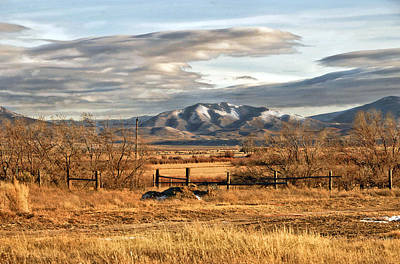 Sunset At Elk Mountain Wy Print by James Steele