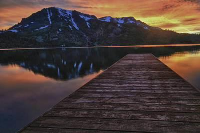 Sunset At Fallen Leaf Lake Print by Jacek Joniec
