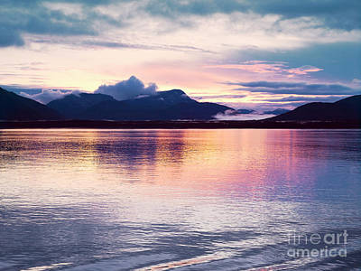 Sunset Photograph - Sunset At Glacier Bay, Alaska. Sunset Reflection In The Calm Waters Of Glacier Bay. by Dani Prints and Images