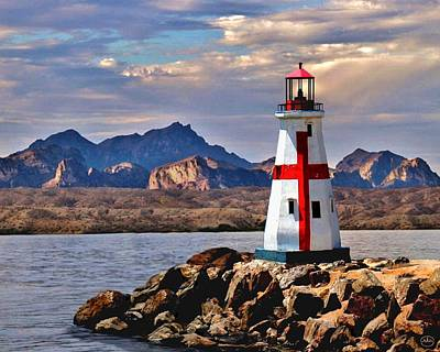 Mountain Scape Painting - Sunset At Lake Havasu by Chambers and  De Forge