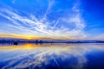 Sky Photograph - Sunset At Lake Ptuj by Ivan Slosar
