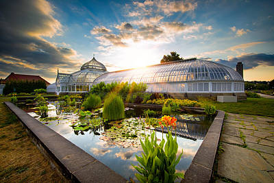 Sunset At Phipps Conservatory Print by Emmanuel Panagiotakis