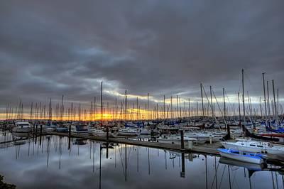 Sunset At Port Gardner Print by Brad Granger