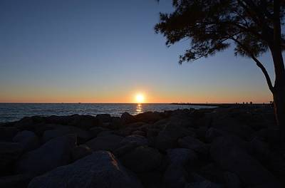 Beach Photograph - Sunset At The Jetties by Patricia Twardzik