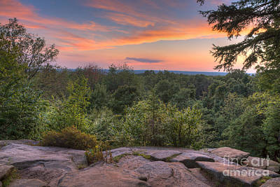Sunset At The Ledges Print by Patrick Shupert