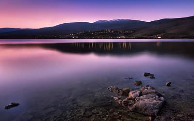 Sunset At The Lozoya Valley Print by Hernan Bua