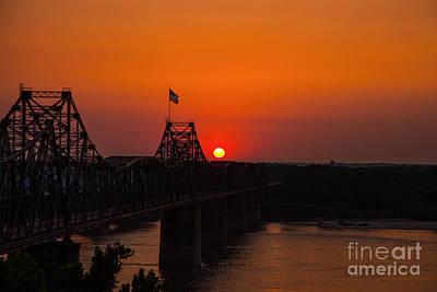 Sunset At Vicksburg Print by T Lowry Wilson