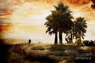 Interior Scene Mixed Media - Sunset Beach by Clare Bevan