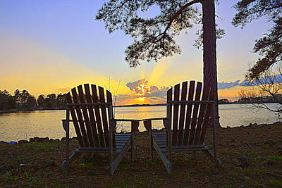 Sunset Blessings Print by Lisa Wooten