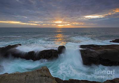 Breach Photograph - Sunset Breach by Mike Dawson
