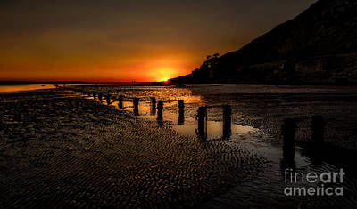 Estuary Photograph - Sunset By The Beach by Adrian Evans