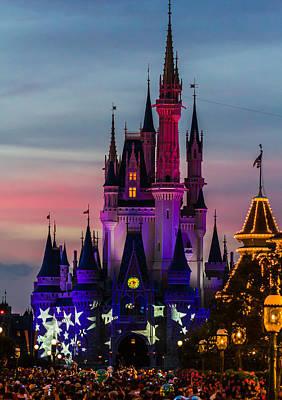 Disney Photograph - Sunset Castle by Nicholas Evans