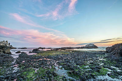 Oceans Photograph - Sunset Colors In Oregon by Jon Glaser