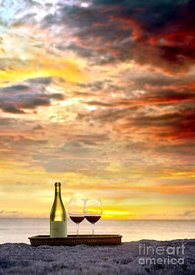 Pinot Photograph - Sunset Devine by Jon Neidert