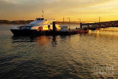 Sun Photograph - Sunset Ferryboat by Carlos Caetano