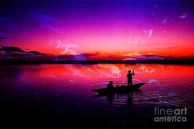 Photograph - Sunset Fishing by Annie Zeno