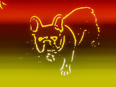 Pup Digital Art - Sunset Frenchie by Heather Joyce Morrill