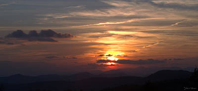 Sunset From The Blue Ridge Parkway Ll Print by John Harmon