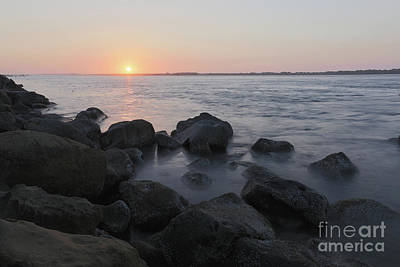 Oregon Photograph - Sunset From The Jetty by Masako Metz