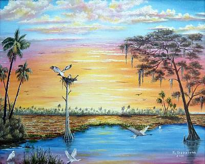 Painting - Sunset Gathering by Riley Geddings