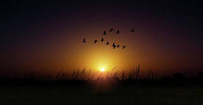Beauty Mark Photograph - Sunset Highway by Mark Andrew Thomas