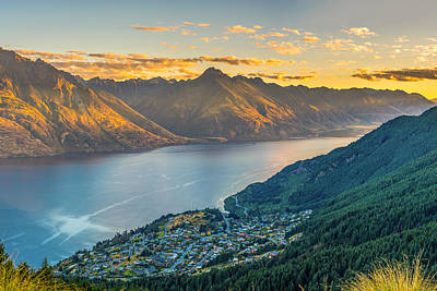 Mountain View Photograph - Sunset In New Zealand by James Udall