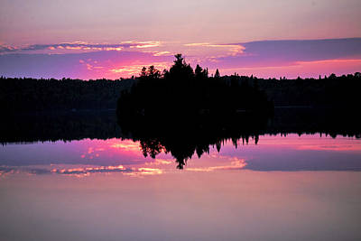 Photograph - Sunset In Superior National Forest by Cynthia Dickinson