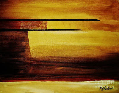 Sunset In The Desert Print by Marsha Heiken