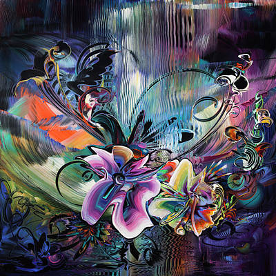 Sunset In The Tropics - Flower Power Original by Susan Card