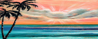 Sunset In The Tropics Print by Gina De Gorna