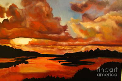 Painting - Sunset by Michael Kulick