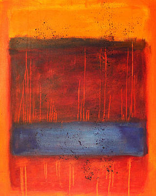 Sunset Abstract Painting - Sunset by Nancy Merkle