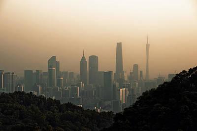 Sunset Of Guangzhou Print by Jimmy LL Tsang