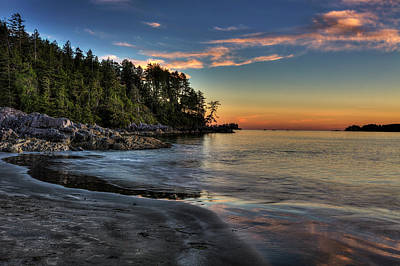 Vancouver Photograph - Sunset Of Seclusion by Mark Kiver