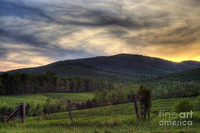 Sunset On Appleberry Mountain 2 Print by Pete Hellmann