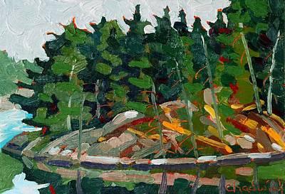 Sunset On Brown Island Original by Phil Chadwick