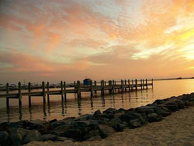 Rehoboth Photograph - Sunset On Dewey Bay by Trish Tritz