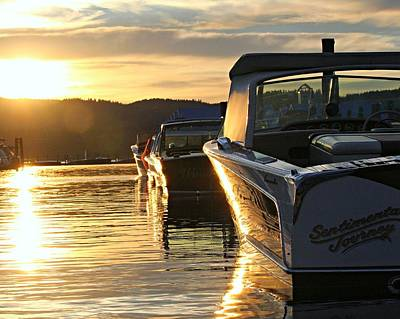 Sunset On Lake Coeur D'alene Print by Steve Natale