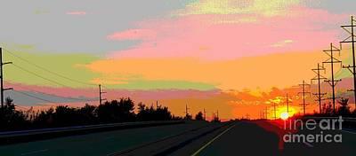 Sunset On Ol' 66 Original by J Anthony Shuff
