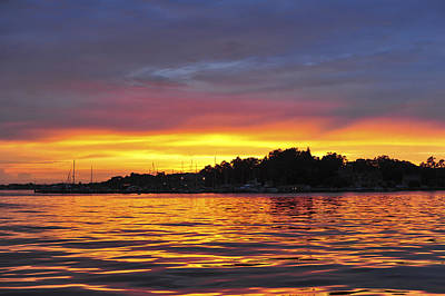 Sunset On The Bay Island Heights Nj Print by Terry DeLuco