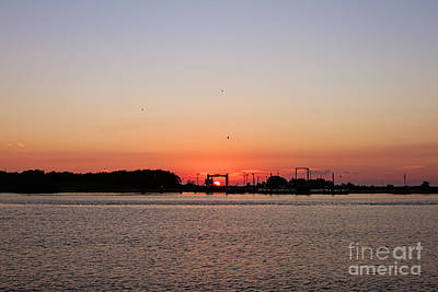 Sunset On The Cameron Ferry Print by Scott Pellegrin
