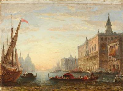 Grand View Of Nature Painting - sunset on the Grand Canal by Celestial Images