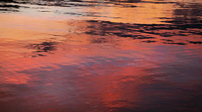 Sunset On Water Print by Theresa Tahara