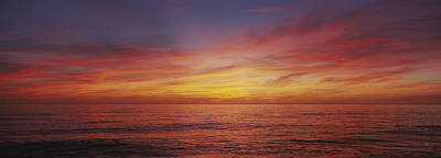 Venice Beach Photograph - Sunset Over A Sea, Gulf Of Mexico by Panoramic Images